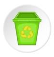 Eco dustbin icon cartoon style vector image vector image