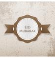 eid mubarak realistic greeting badge vector image vector image