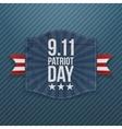 Eleventh September Patriot Day national Emblem vector image vector image