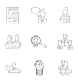 Employee icons set outline style vector image vector image