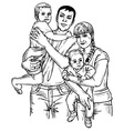 family four vector image vector image