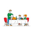 feast thanksgiving day celebration concept happy vector image