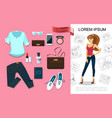 flat fashion accessories concept vector image