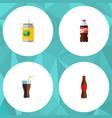 flat icon beverage set of bottle beverage juice vector image vector image