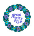 floral wreath with text vector image