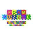 foam puzzle font design alphabet letters and vector image vector image