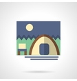Forest camping flat color design icon vector image vector image