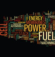 fuel cell power the energy of the future text vector image vector image