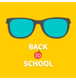 Glasses icon Back to school Flat design style vector image vector image