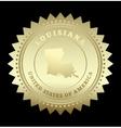 Gold star label Louisiana vector image vector image