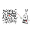 graffiti character with a pointer in his hand vector image vector image