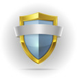 Guard shield with blank ribbon emblem vector image