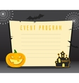 Halloween background with place for text Happy vector image