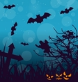Halloween Outdoor Background with Scary Pumpkins vector image vector image