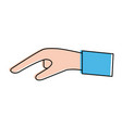 hand pointing with index finger icon image vector image vector image