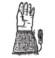 hawking glove vintage vector image vector image