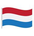 isolated dutch flag vector image