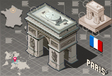 Isometric Infographic Arc de Triomphe in Paris vector image vector image