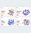 isometric online shopping technology vector image vector image