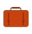 Journey suitcase travel red fashion bag trip vector image vector image