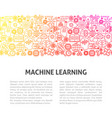 machine learning line design template vector image