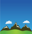 Mountain clouds background vector image vector image