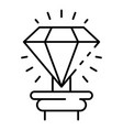museum diamond icon outline style vector image vector image