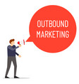 outbound marketing speech bubble vector image vector image
