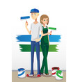 painting couple vector image