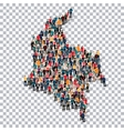 people map country Colombia vector image vector image