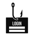 phishing login icon simple style vector image vector image