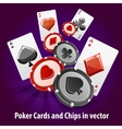 Poker Cards and Chips background vector image vector image