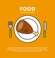 protein food vector image vector image