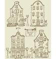 set hand drawn houses vector image