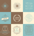 set of outline design elements vector image