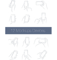 Set of Simple Mockups Mobile Devices vector image vector image