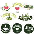 Set of summer lettering vector image vector image