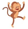 smiling monkey cartoon icon vector image vector image