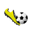 soccer shoes witn ball vector image