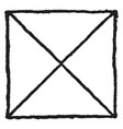 solomons seal built on the right angle triangle vector image vector image