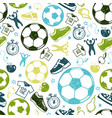 sport sketch soccer seamless pattern vector image