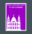 st pauls cathedral london uk monument landmark vector image vector image