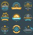 Summer Holidays Design Elements Set of Hipster vector image vector image