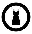 sundress combination or nightie black icon in vector image