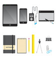 touchscreen devices vector image vector image