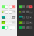 User Interface Set including switches vector image vector image
