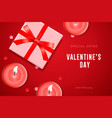 valentines day special offer poster with gift box vector image vector image