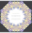 Vintage floral square frame vector image