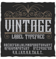 vintage label typeface poster vector image vector image