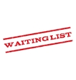 Waiting List Watermark Stamp vector image vector image
